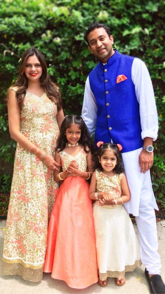 Shruti Babu and her family