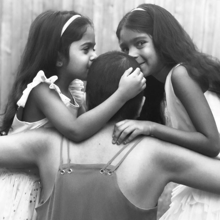 Shruti Babu and her daughters